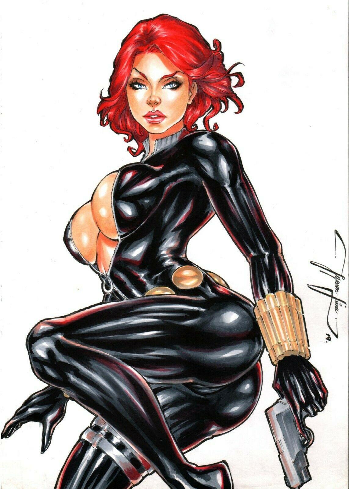 naked avengers the widow black Ciel phantomhive x sebastian michaelis
