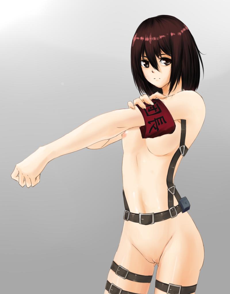 attack titan nude mikasa on Onii chan dakedo ai sae areba kankeinai yo ne