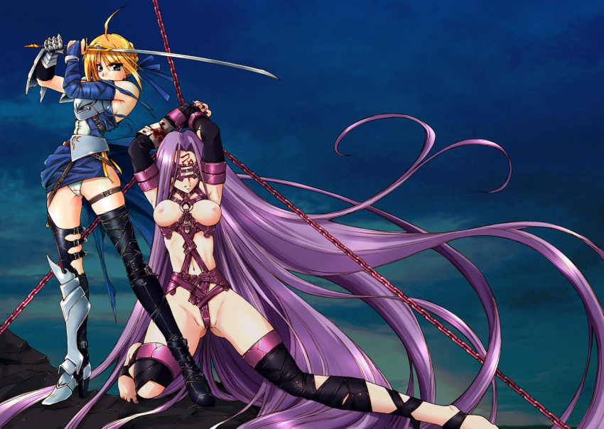 fate stay and night gilgamesh saber How not to summon a demon lord nudity